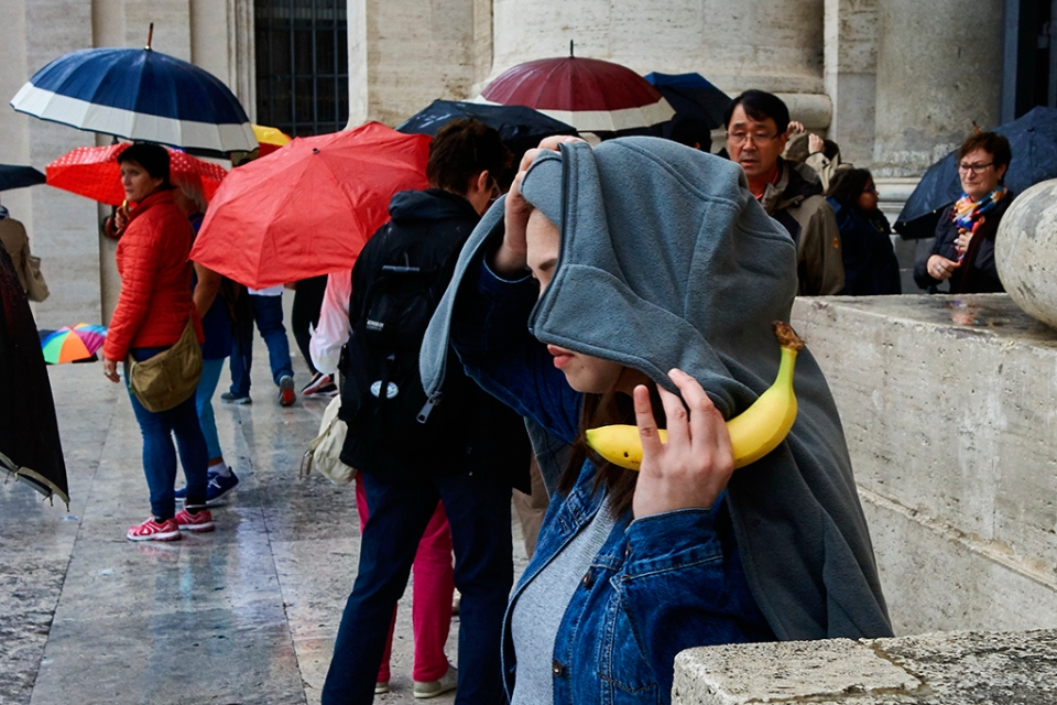 A banana in the Vatican